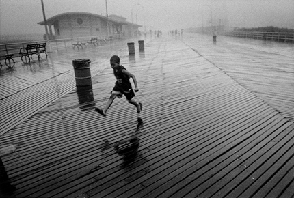 Running Boy in Rain by Harvey Stein. Source: klotzgallery.com
