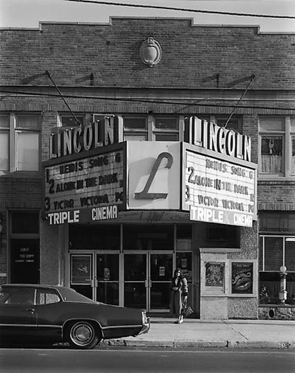 Lincoln Theater, North Arlington, NJ by George Tice. Source: danzigerprojects.com