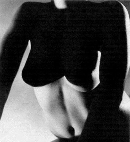 Female nude push-up (frontal) by Horst P. Horst. Source: stellanholm.com