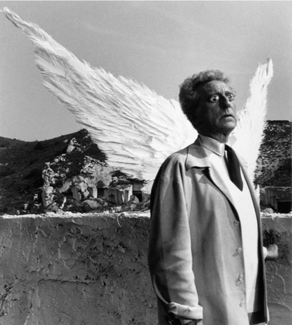 Jean Cocteau and the Sphinx, 1959 by Lucien Clergue. Source: westwoodgallery.com