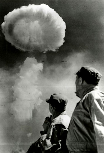 Untitled (Atomic Bomb Explosion) by Photographer unknown. Source: peterblumgallery.com
