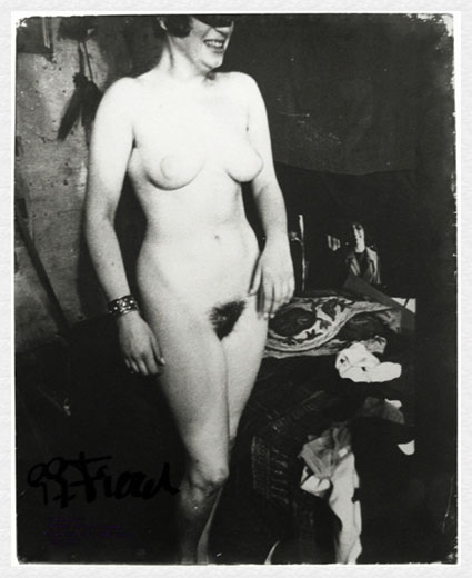 Nude Standing, with Bracelet and Mask by Gerard Petrus Fieret. Source: saulgallery.com