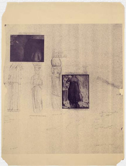 Portico with Caryatids of Delphi by Francesca Woodman. Source: mariangoodman.com