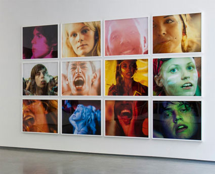 installation view, �You and My Friends 2� by Ryan McGinley. Source: teamgal.com