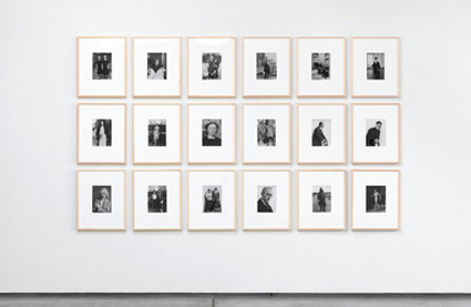 Installation view, After August Sander 1-18  by Sherrie Levine. Source: paulacoopergallery.com